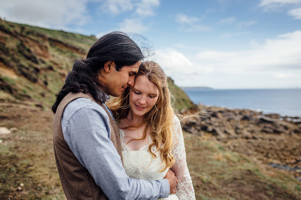 An Eco Wedding At Cape Cornwall And Plan It Earth Angela John